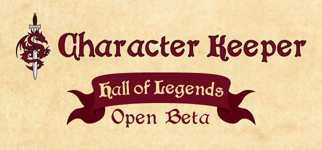 Character Keeper open beta kicks off!